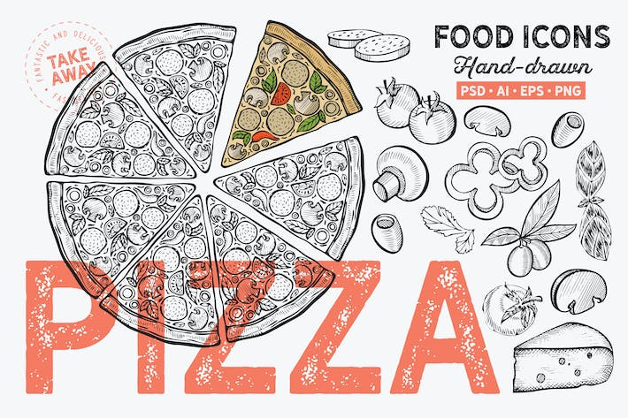 Thumbnail for Pizza Hand-Drawn Graphic