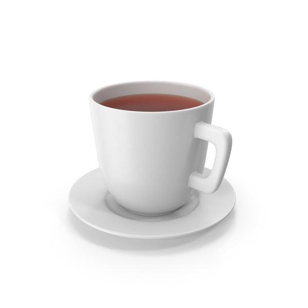 Taza de té con plato