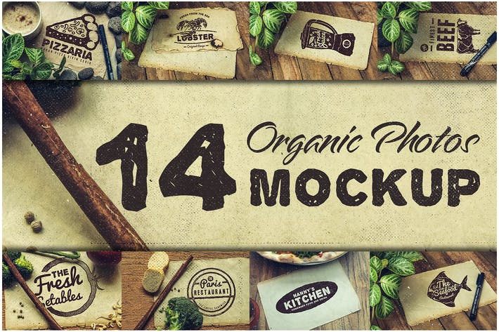 Thumbnail for Food Mockup Photo Templates