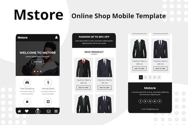 Mstore - Online Shop Mobile Template