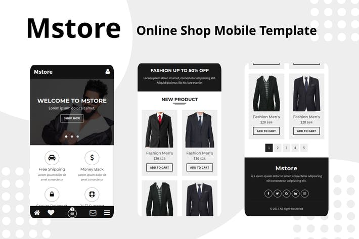 Thumbnail for Mstore - Online Shop Mobile Template