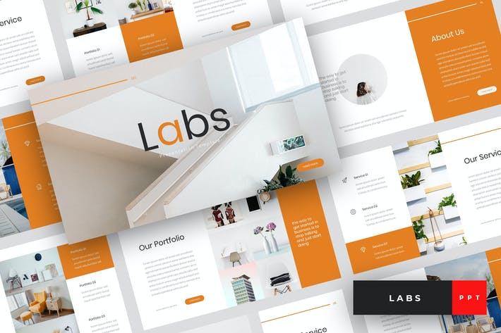 Cover Image For Labs - Creative PowerPoint Template