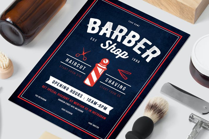 cover image for barbershop flyer