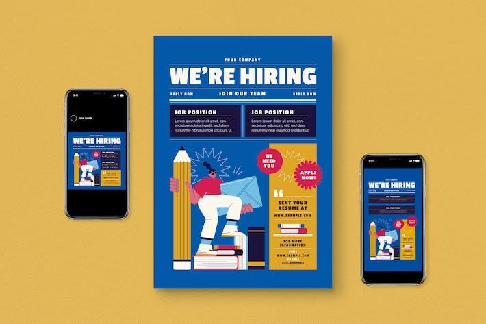 Thumbnail for Hiring Job Flyer Pack