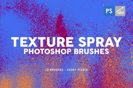 12 Texture Spray Photoshop Brushes