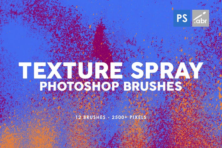 Thumbnail for 12 Texture Spray Photoshop Brushes