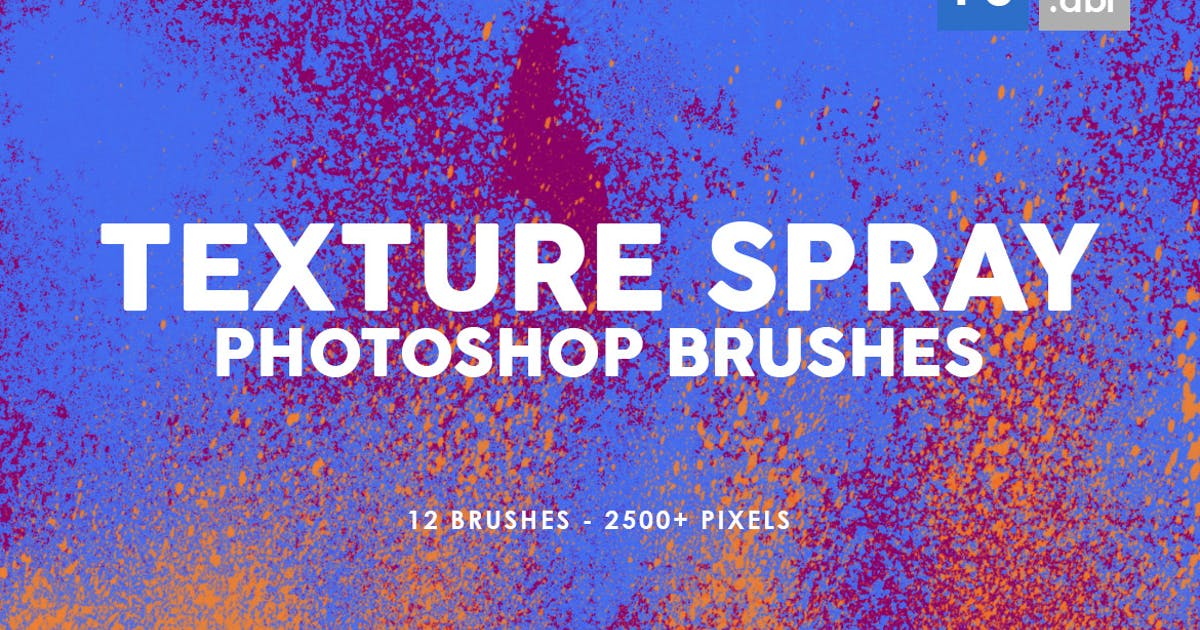 12 Texture Spray Photoshop Brushes by M-e-f