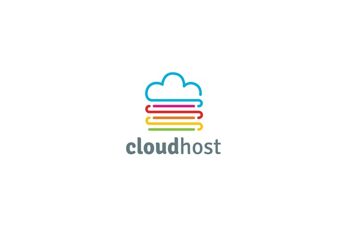 Thumbnail for Cloud Host Logo Template