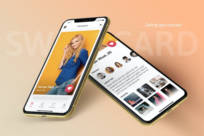 Thumbnail for Swipe Card - Dating App Concept