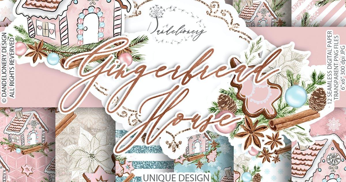 Download Gingerbread House digital paper pack by designloverstudio