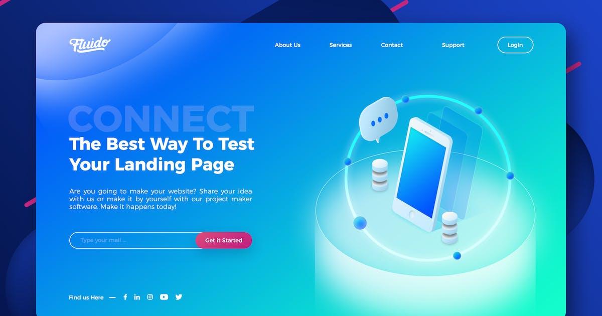 Technology website hero header template by EightonesixStudios