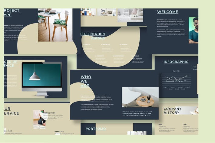 Thumbnail for Шаблон Powerpoint для мебели