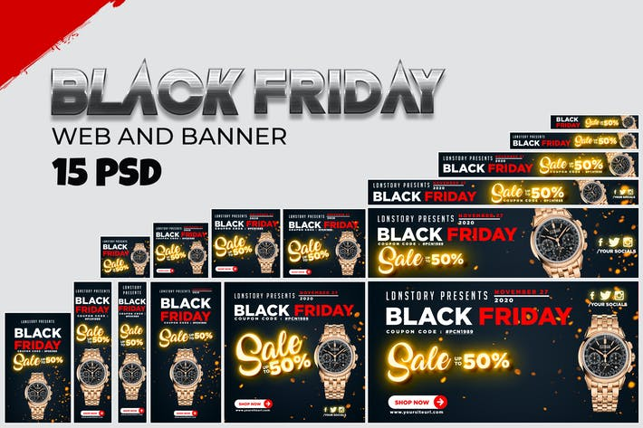 Thumbnail for Black Friday Banner Ads