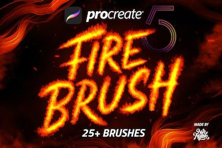 PROCREATE FIRE BRUSH
