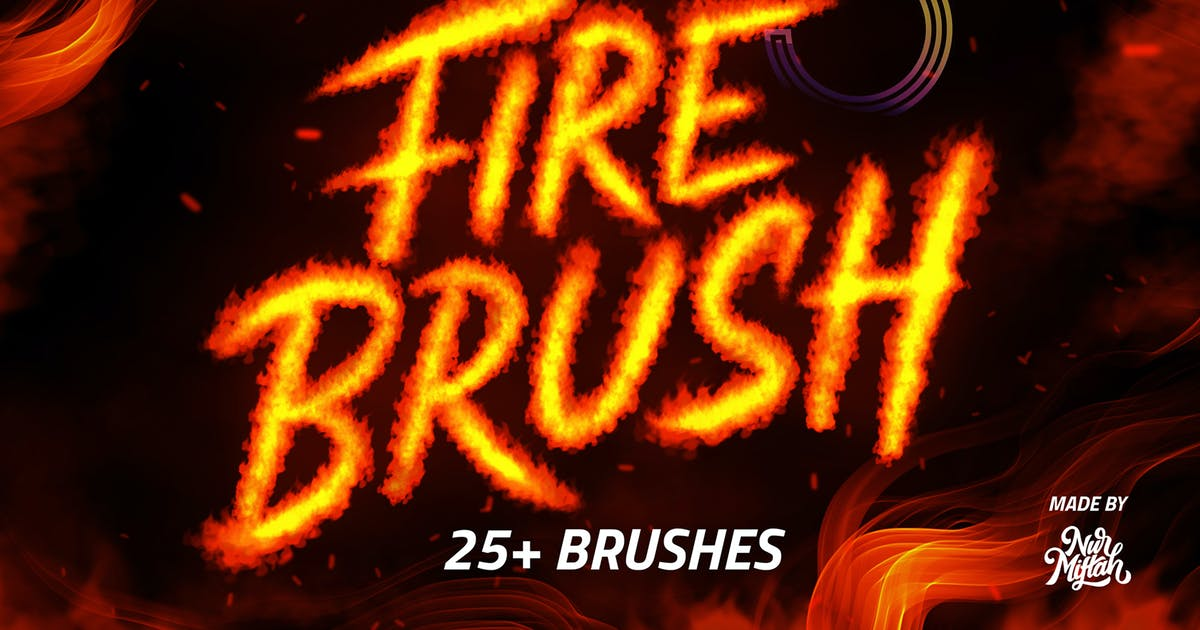 Download PROCREATE FIRE BRUSH by RakataStudio