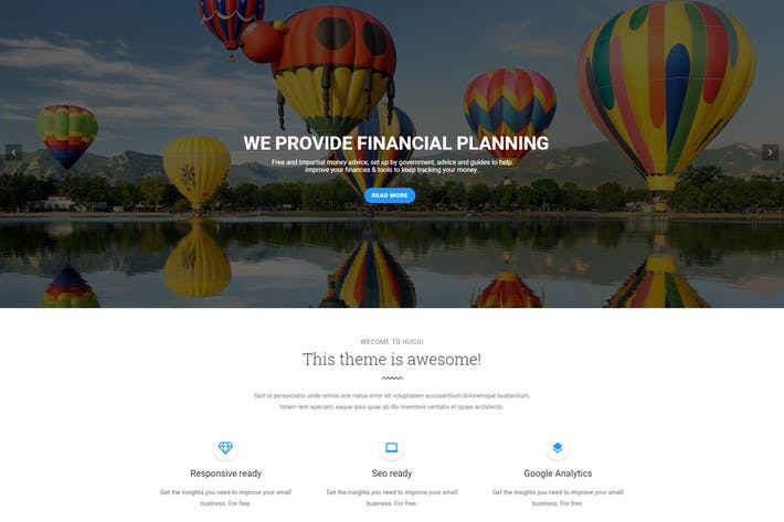 Thumbnail for Huggi - Responsive Business Drupal 8 Theme