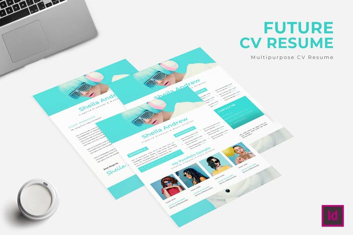 Thumbnail for Future CV Resume Template