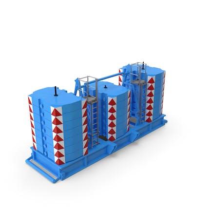 Crane Super Lift Counterweight Blue