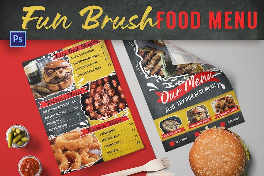 Fun Brush Food Menu