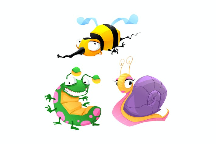 Thumbnail for Two Funny Insects and One Snail