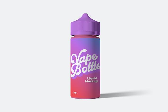 Maquettes de bouteille de liquide Vape