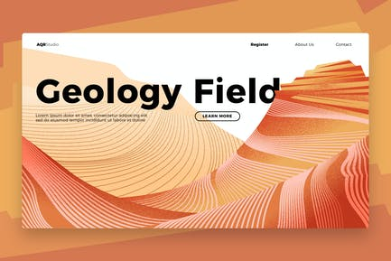 Geology Field - Banner & Landing Page