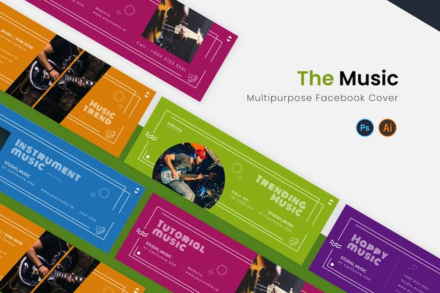 The Music Facebook Cover