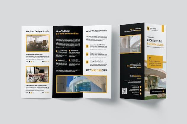 Architecture & Design Studio Trifold Brochure
