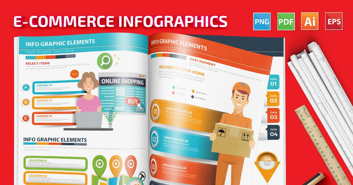 Download E-Commerce Infographics design by mamanamsai