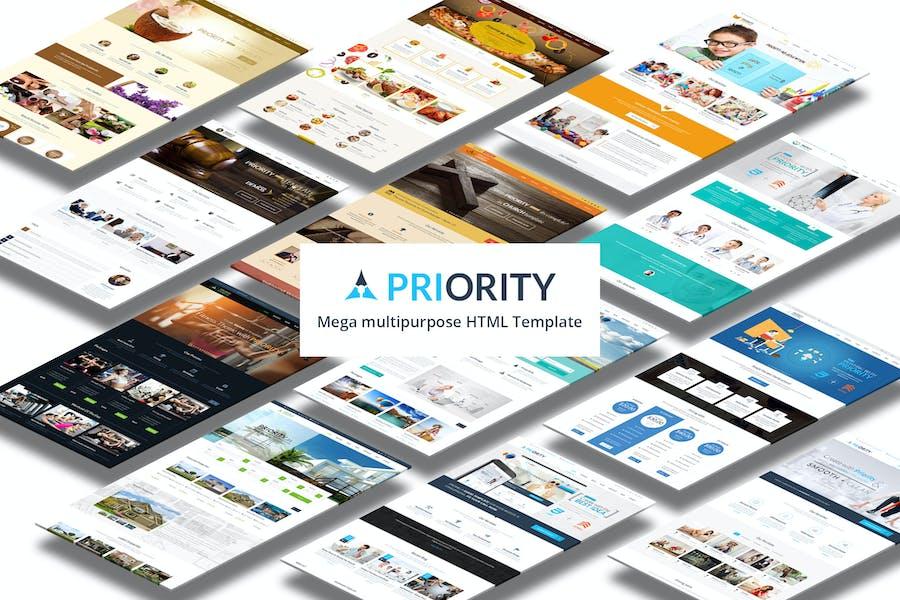 Priority   Multipurpose Responsive HTML5 Template
