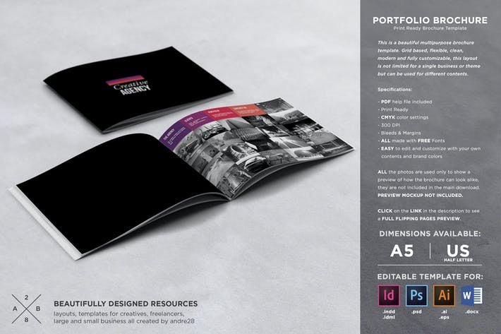 Thumbnail for Portfolio Brochure Template
