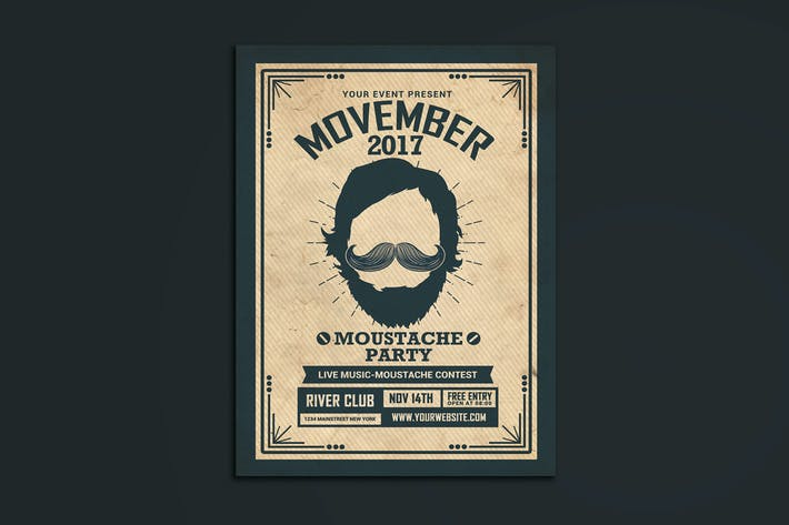 Thumbnail for Movember Event Flyer