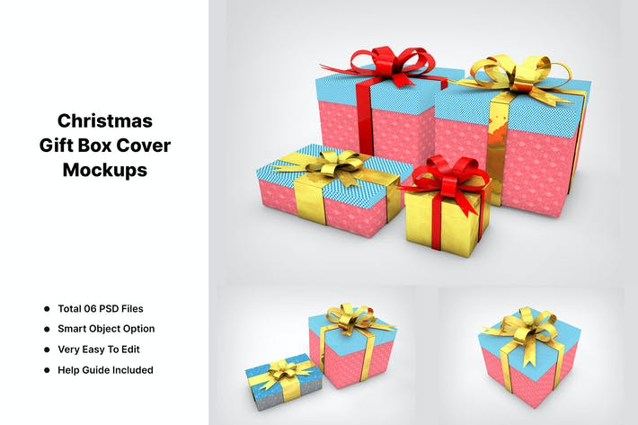 Thumbnail for Christmas Gift Box Mockups