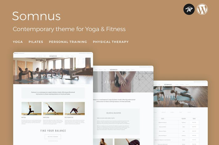 Thumbnail for Somnus - Yoga & Fitness Studio WordPress Thema