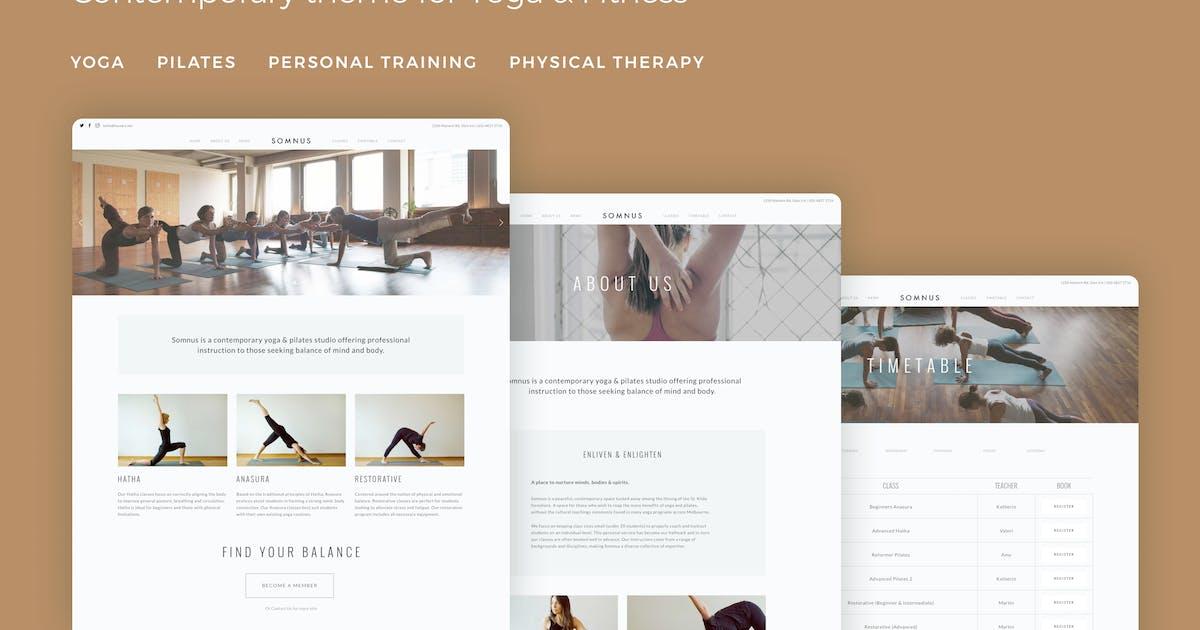Download Somnus - Yoga & Fitness Studio WordPress Theme by tommusrhodus