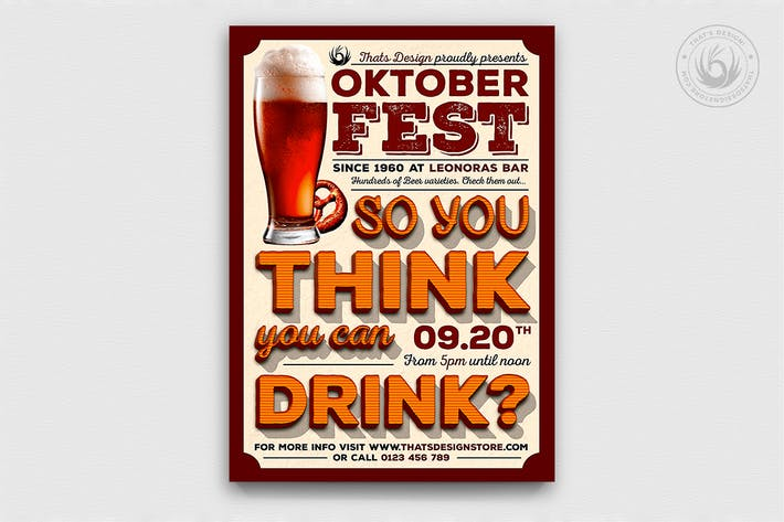 Oktoberfest Flyer Template V9