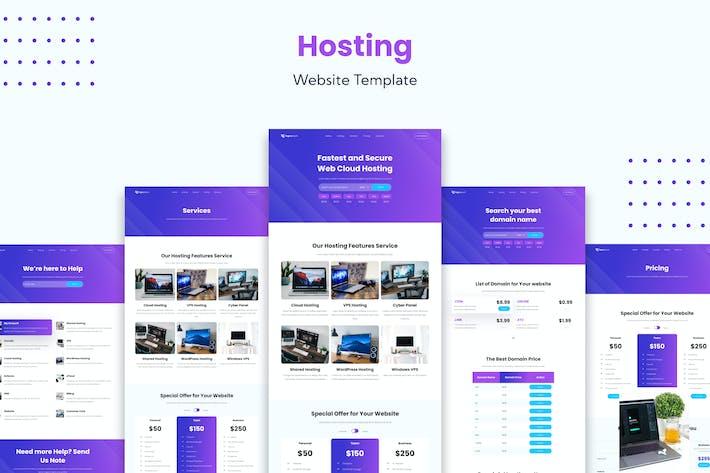 Hosting-Dienst-Website-Vorlage