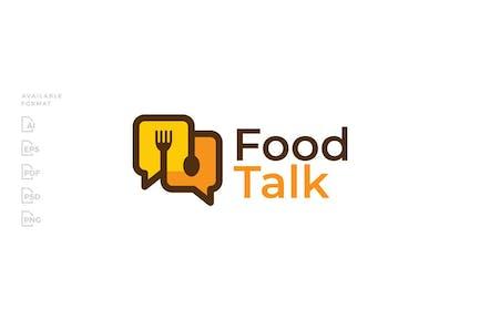 Food Talk Spoon Fork Logo
