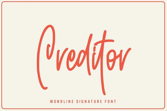 Créancier - Monoline Signature Police