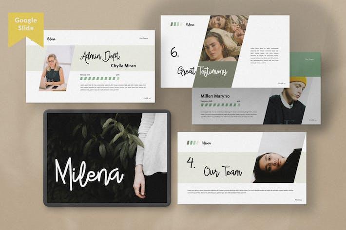 Cover Image For Milena Creative Google Slide