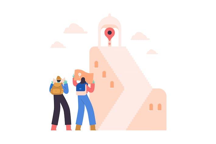 Thumbnail for Destination Flat Illustration