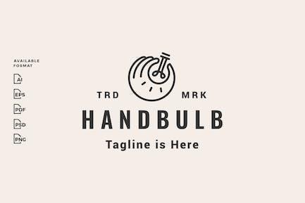 ok hand bulb hipster logo