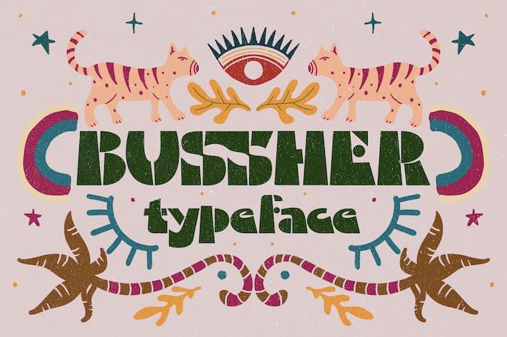 Tipo de letra Bussher