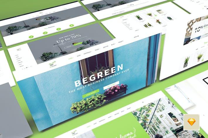 Thumbnail for BeGreen - Multipurpose Planter Sketch Template