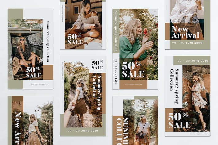 Summer Sale Fashion Instagram Stories PSD & AI