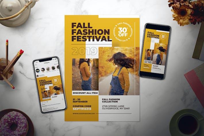 Thumbnail for Fall Fashion Flyer Set