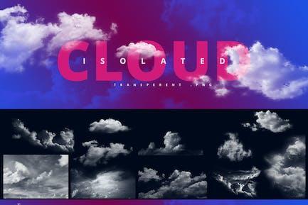 Conjunto de nubles/nubes transparentes