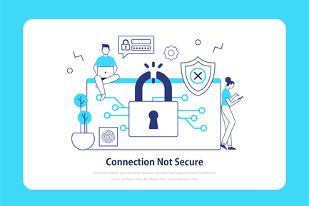 Connection not secure - Onboarding Illustration