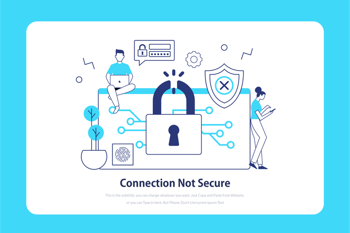 Thumbnail for Connection not secure - Onboarding Illustration