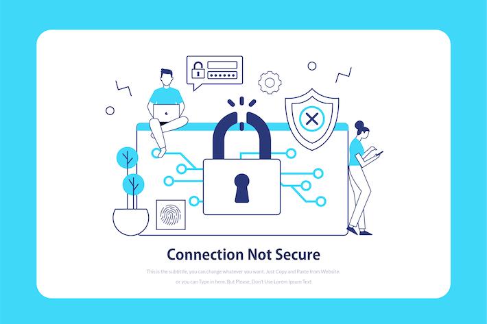 Thumbnail for Connexion non sécurisée - Illustration d'intégration